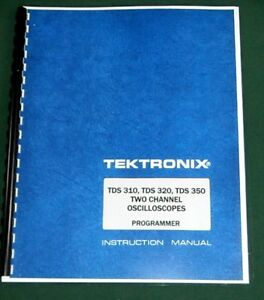 Tektronix Tds 310 320 350 Programmer Manual Comb Bound Protective Covers