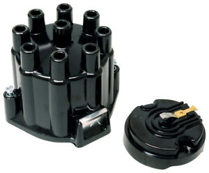 Msd 5500 Street Fire Distributor Cap And Rotor Kit Gm V8 Points Socket Black