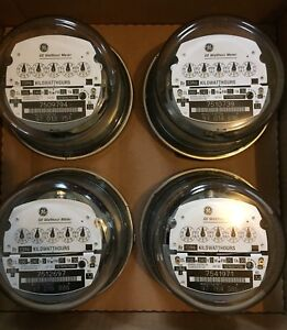 Ge Watthour Meter Kwh I 70s 240v Fm2s 200a 4 Lug 3w Zero Reset Lot Of 4