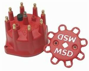 Msd 8431 Replacement Red Distributor Cap Fits Msd Small Diameter Pro Billet Dist