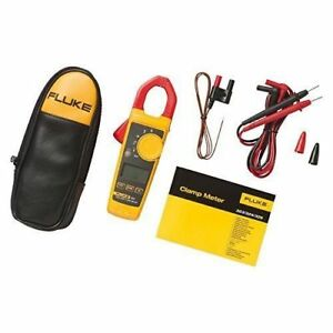 Fluke 324 True rms Clamp Meter With Carry Case And Acc New Free Shipping