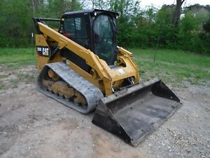 2014 Cat 289d Skid Steer Track Loader With 85 Bucket Cab Heat Air Ship 500