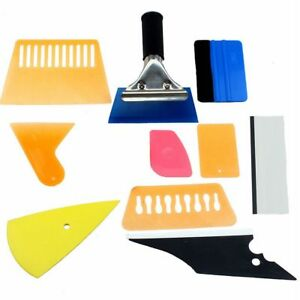 10 Pcs Car Window Tint Wrapping Vinyl Tools 3m Squeegee Scraper Applicator Kits
