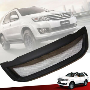Matte Matt Black Front Net Grill Grille For Toyota Fortuner Sw4 2012 2013 2014