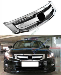 Chrome Sport Model Front Bumper Middle Center Grille For Honda Accord 2008 10