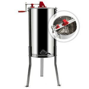 Large 3 Frame Honey Extractor Beekeeping Equipment Stainless Steel With Holder