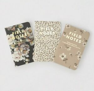 Brand New sealed Field Notes Abercrombie Fitch Floral Print Paper Notebooks