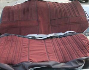 1983 1984 Hurst Olds Cutlass 442 Maple Red Cloth Rear Only Seat Covers Set