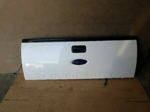 13 16 Ford F250 F350 Super Duty Rear Tailgate With Step And Camera White Oem 14