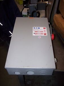 Cutler Hammer 200 Amp Fused Safety Switch 600 Vac 150 Hp 3 Phase Dh364fgk