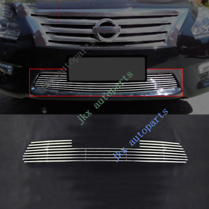 Chrome Abs Front Bumper Lower Grille Grill Fit For Nissan Altima 2013 15