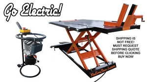 110v Electric Redline 1500hd 1 500 Lb Motorcycle Atv Utv Lifting Lift Table Jack
