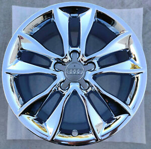 Audi A3 17 Inch Chrome Wheels 17 Rims Oem A 3 4 A4 58904 8p0601025cc 17x7 5