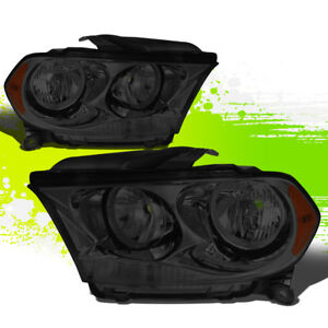 For 11 13 Dodge Durango Smoked Housing Amber Side Bumper Driving Headlight lamps