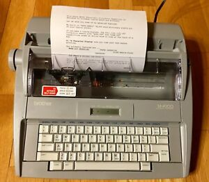 Brother Sx 4000 Electronic Typewriter Daisy Wheel Lcd Display Portable Tested