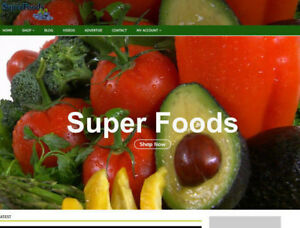 Super Foods Drop Shipping Website With Video Blog Social seo Work From Home