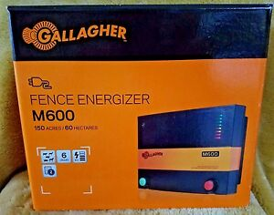 Gallagher M600 Electric Fence Charger Energizer 110 Volt 150 Acre 25 Miles New