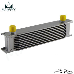 10 Row An10 Engine 248mm Aluminum Oil Cooler Radiator Mocal Style Silver