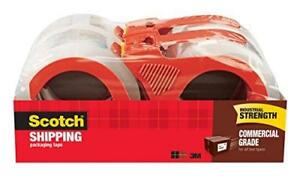 Scotch Commercial Grade Packaging Tape 1 88 In X 54 6 Yd Clear 4 Rolls pac