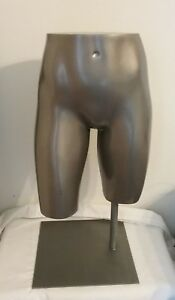Fusion Silver Fe Male Hip Buttocks Mannequin Lower Torso with A Table Base
