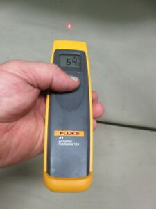 Fluke 61 Infrared Digital Temperature Handheld Laser Thermometer For Hvac Look