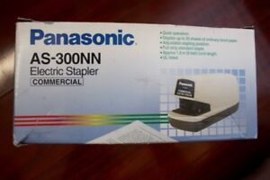 Nib Panasonic As 300n Automatic Commercial Electric Stapler Vintage 25 Page