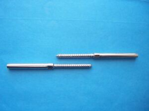 316 Stainless Steel Right Left Lag Stud Set 1 8 Cable Railing 1 To 100