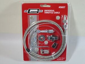 Mr Gasket 5657 Throttle Cable Braided Stainless Steel 36 Long Universal Each