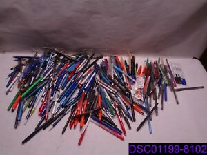 Qty 246 Assorted Lot Of Ink Pens Black blue various Colored Gel