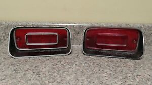 Pair Of Vtg 1971 Dodge Dart Tail Light Brake Taillight Lens Original Mopar Lot1