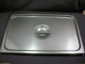 Full Size Solid Stainless Steel Steam Table Pan Lid Cover 21x13 New case Of 12