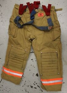 Morning Pride Structural Turnout Gear Pants Size 46 Waist X 32 Inseam