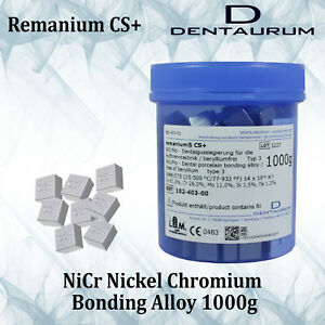 Dental Lab Dentaurum Remanium Cs Nicr Metal Alloy Porcelain Casting Bonding