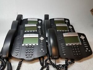 Lot Of 6 Polycom Soundpoint Ip 550 Sip Voip Hd Voice Phone No Stands w Handsets