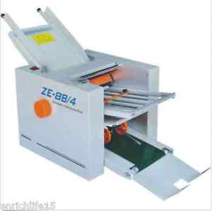 310 700 Mm Paper 4 Folding Plates Auto Folding Machine Ze 8b 4