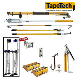 Tapetech Drywall Taping Tools Pro Full Extender Set With Mudrunner New