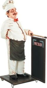 Chef Cook With Menu Sign Life Size Food Sign Restaurant Decor With Menu 6 Ft