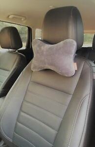 2 Pc Micro Bead Car Auto Seat Head Rest Support Pillow Neck Pain Cushion Gray