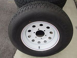 1 New St 225 75r15 Cargo Max Radial Trailer Tire And Wheel 10 Ply 2257515 75 15