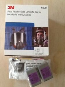3m Lage Full Face Respirator 6900 With Free Filter