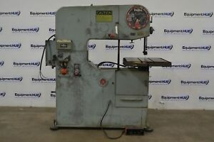 Doall 3612 h 36 Throat Hydraulic Table Feed Vertical Band Saw