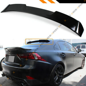 F Style Gloss Black Rear Window Roof Spoiler For 2014 18 Lexus Is200 Is250 Is350