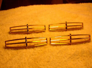 Lincoln 1990 1997 Gold Anodized Hub Cap Medallions New Old Stock Set Of 4