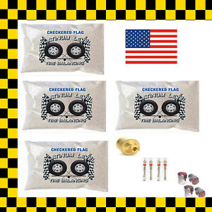 Tire Balance Beads Premium Upgraded Balancing Kit Includes 4 3oz Bead Bags