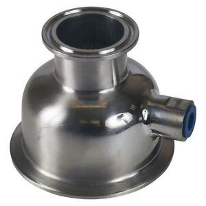 Bowl Reducer Tri Clamp clover 3 Inch X 1 5 1 1 2 X 1 4 Fnpt Sanitary Ss304