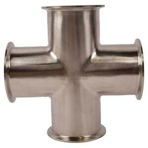 Cross Tri Clamp clover 3 Inch Sanitary Ss304 2 Pack