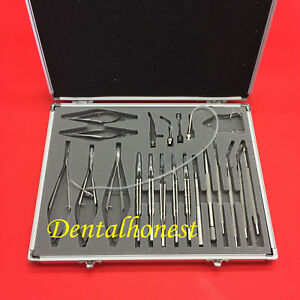 21pcs Ophthalmic Cataract Eye Micro Surgery Surgical Instruments Set