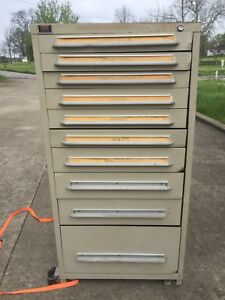 Used Lyon 10 Drawer Cabinet Industrial Tool Storage