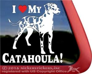 I Love My Catahoula Catahoula Leopard Dog Vinyl Decal Sticker