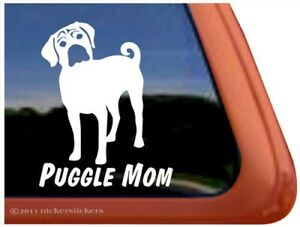 Puggle Mom High Quality Puggle Vinyl Dog Window Decal Sticker